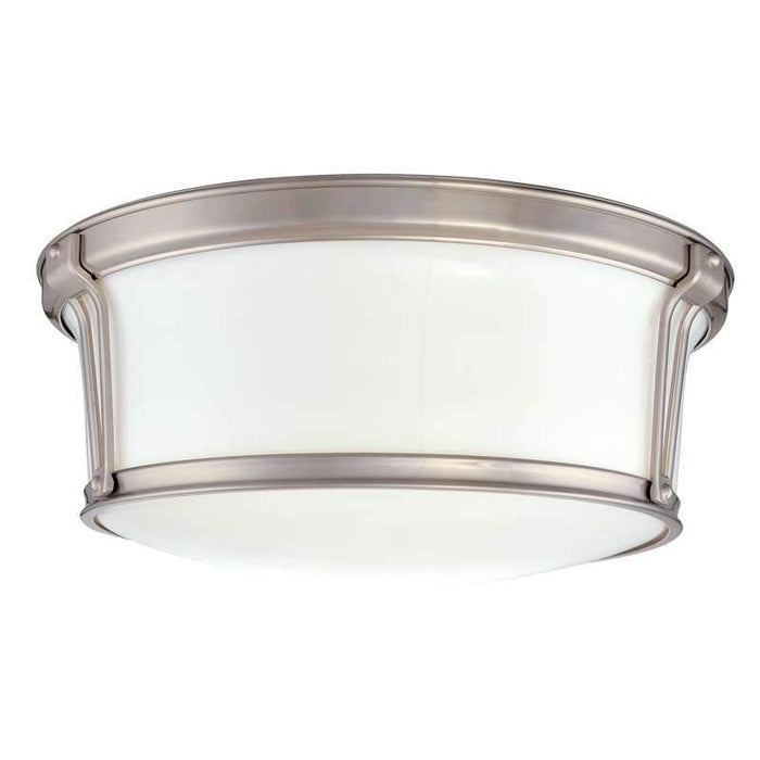 "Newport Ceiling Light 15"" Satin Nickel"