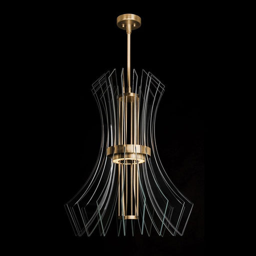 Newton Down Pendant 912840 - Gold Leaf Finish