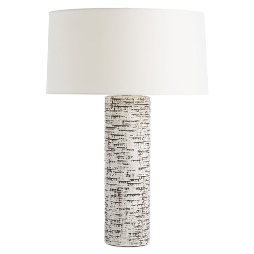 Nico Table Lamp - Ivory Glaze & Charcoal Wash