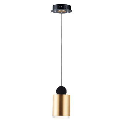 Nob Cylinder Mini Pendant - Gold & Black