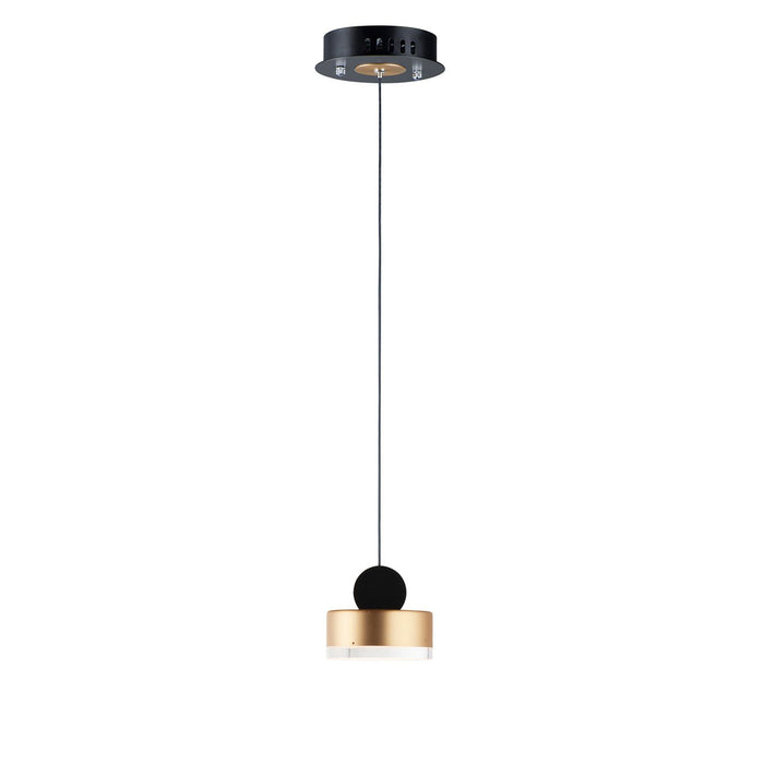 Nob Round Mini Pendant - Gold & Black
