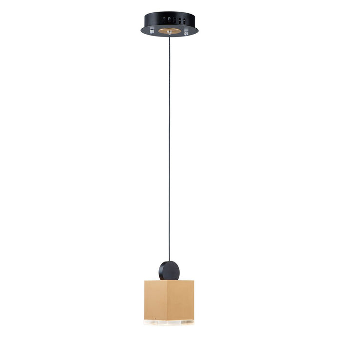 Nob Square Mini Pendant - Gold & Black