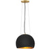 Nula Pendant - Shell Black/Gold Leaf Finish