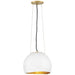 Nula Pendant - Shell White/Gold Leaf Finish