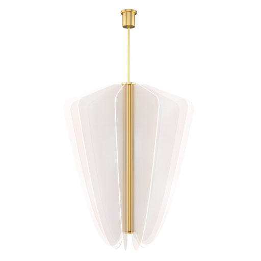 Nyra Large Chandelier - Natural Brass Finish