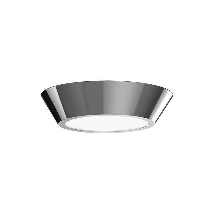 "Oculus 10"" LED Surface Mount Ceiling Light - Polished Nickel"