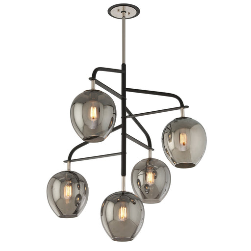 Odyssey 5 Light Pendant - Polished Nickel Finish