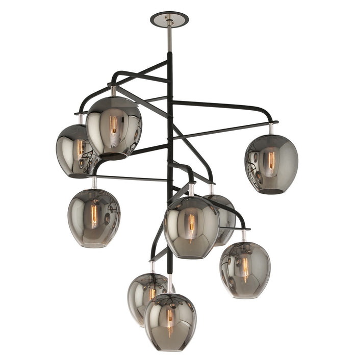 Odyssey 9 Light Pendant - Polished Nickel Finish