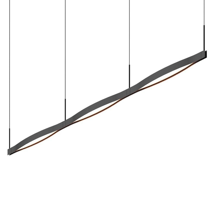 Ola Triple Linear LED Pendant - Satin Black