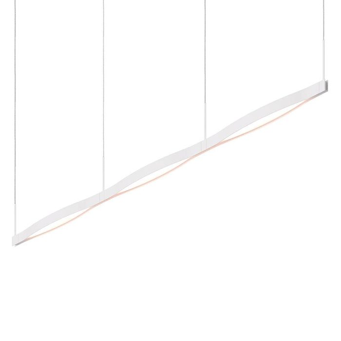 Ola Triple Linear LED Pendant - Satin White