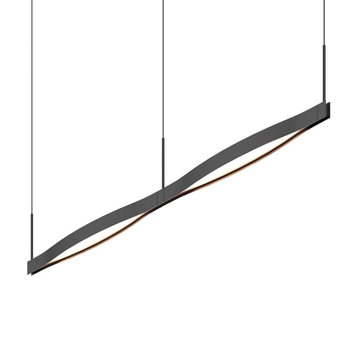 Ola Double Linear LED Pendant - Satin Black
