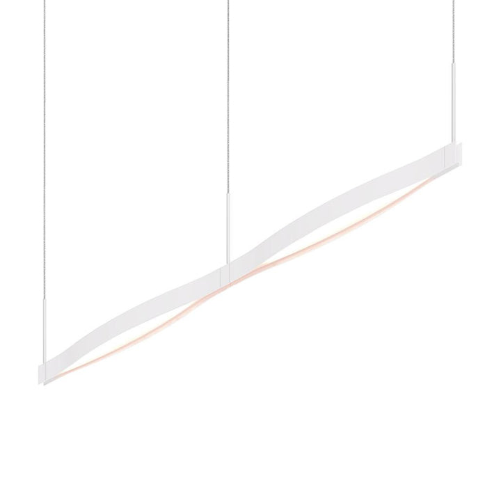 Ola Double Linear LED Pendant - Satin White