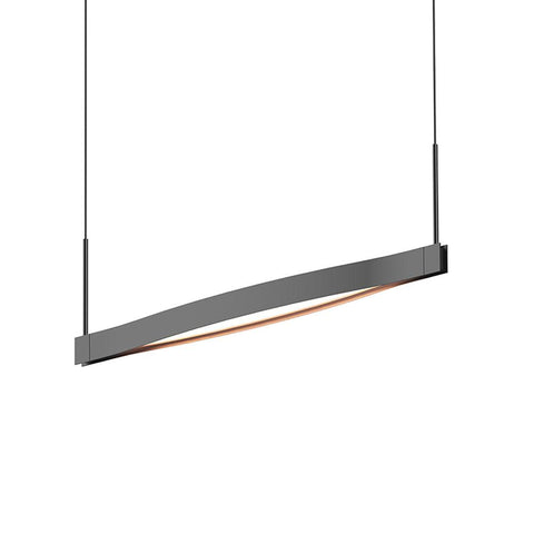 Ola Single Linear LED Pendant - Satin Black