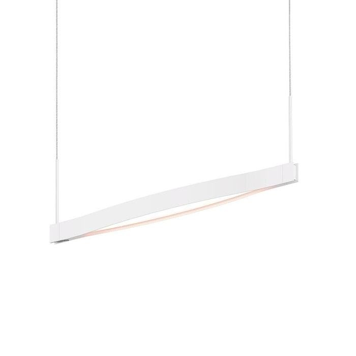 Ola Single Linear LED Pendant - Satin White
