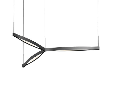 Ola Tri-Star LED Pendant - Satin Black