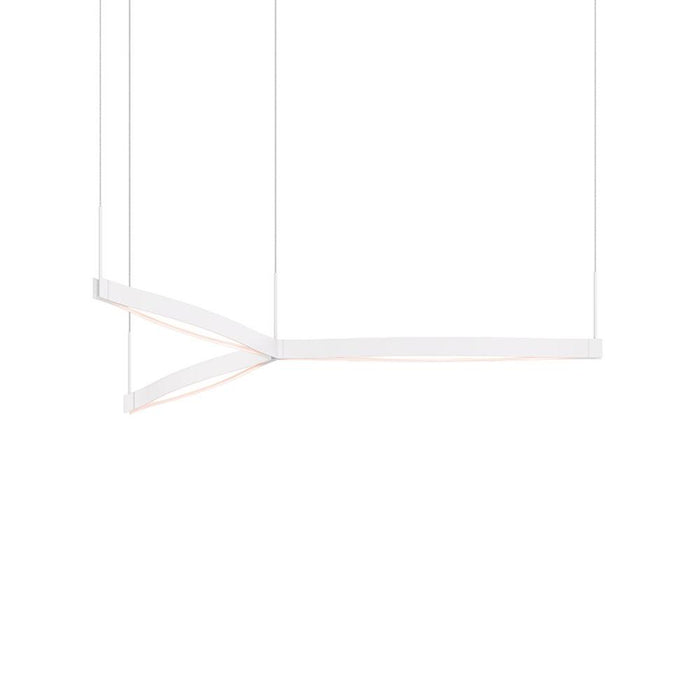 Ola Tri-Star LED Pendant - Satin White
