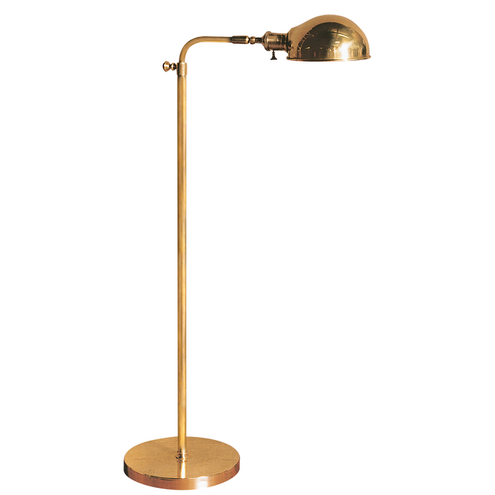 Old Pharmacy Floor Lamp - Hand Rubbed Antique Brass Finish
