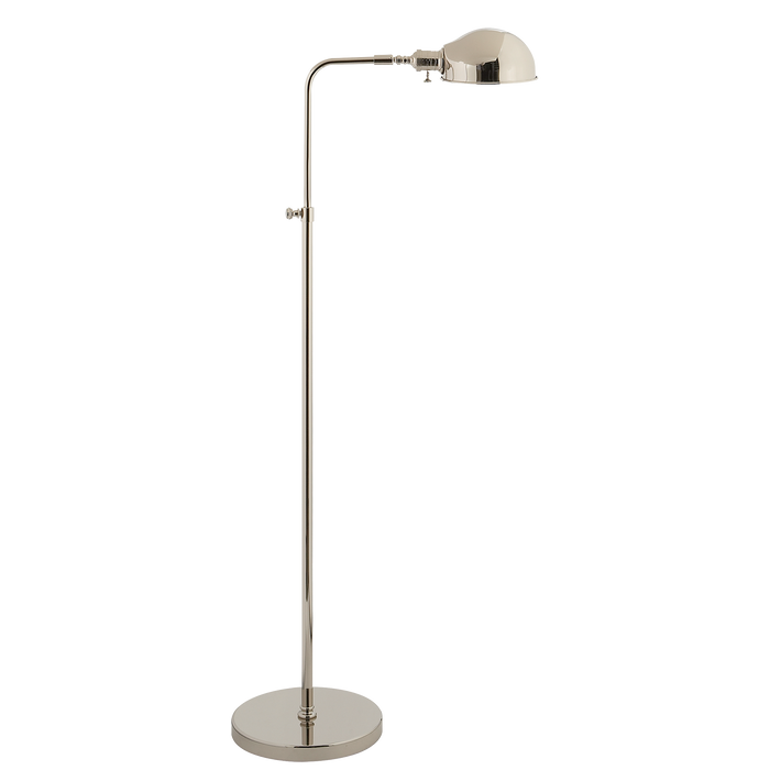 Old Pharmacy Floor Lamp - Polished Nickel Finish