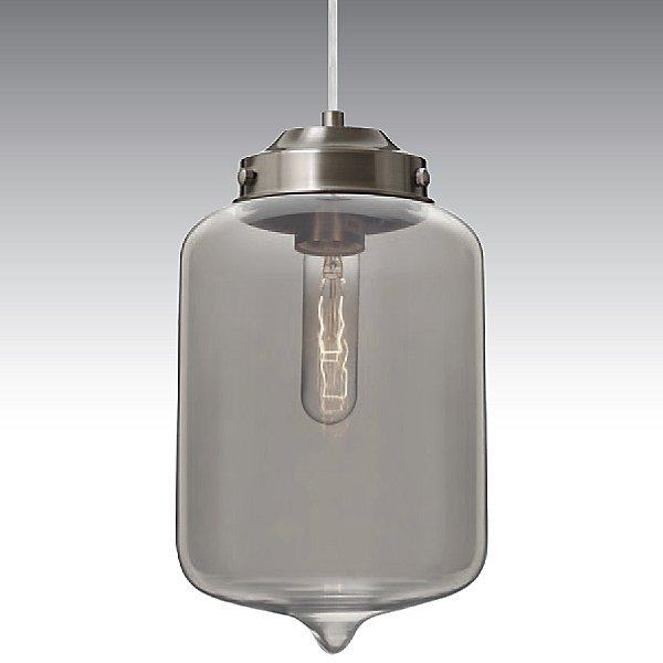Olin Mini Pendant Light Smoke/Satin Nickel