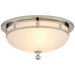 Openwork Small Flush Mount - Polished Nickel Finish