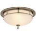 Openwork Small Flush Mount - Antique Nickel Finish