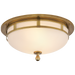 Openwork Small Flush Mount - Hand-Rubbed Antique Brass Finish