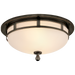 Openwork Small Flush Mount - Bronze Finish
