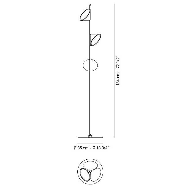 Orchid LED Floor Lamp Spec