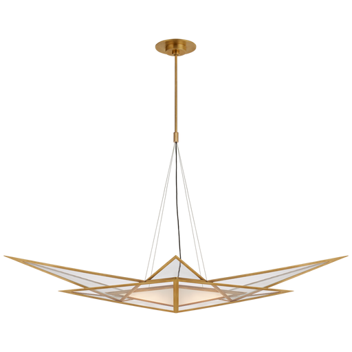 Ori Medium Linear Chandelier - Antique Burnished Brass