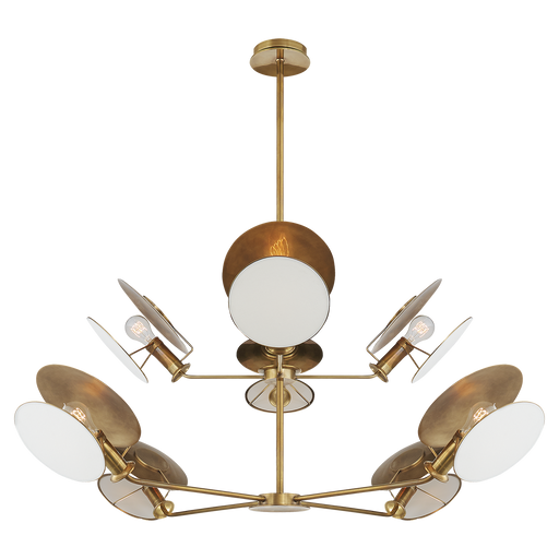 Osiris Large Reflector Chandelier - Antique Brass