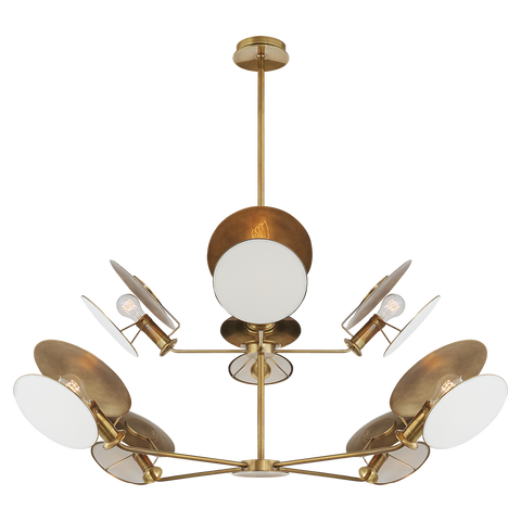 Osiris Large Reflector Chandelier Antique Brass