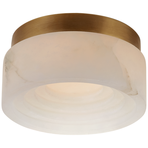 Otto Solitaire Flush Mount - Antique Burnished Brass