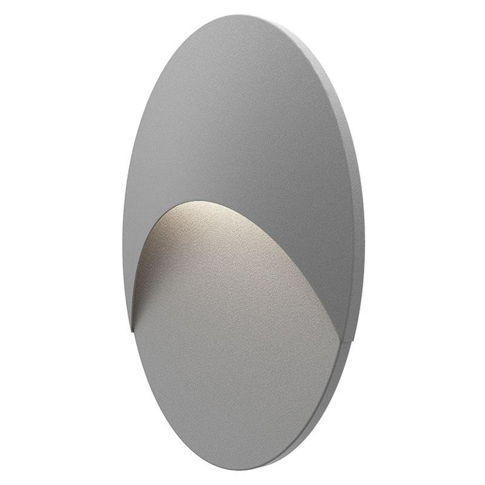 Ovos Oval LED Outdoor Wall Sconce - Textured Gray Finish
