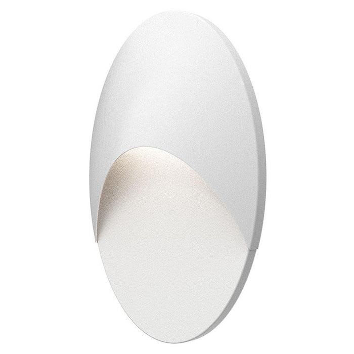 Ovos Oval LED Outdoor Wall Sconce - Textured White Finish