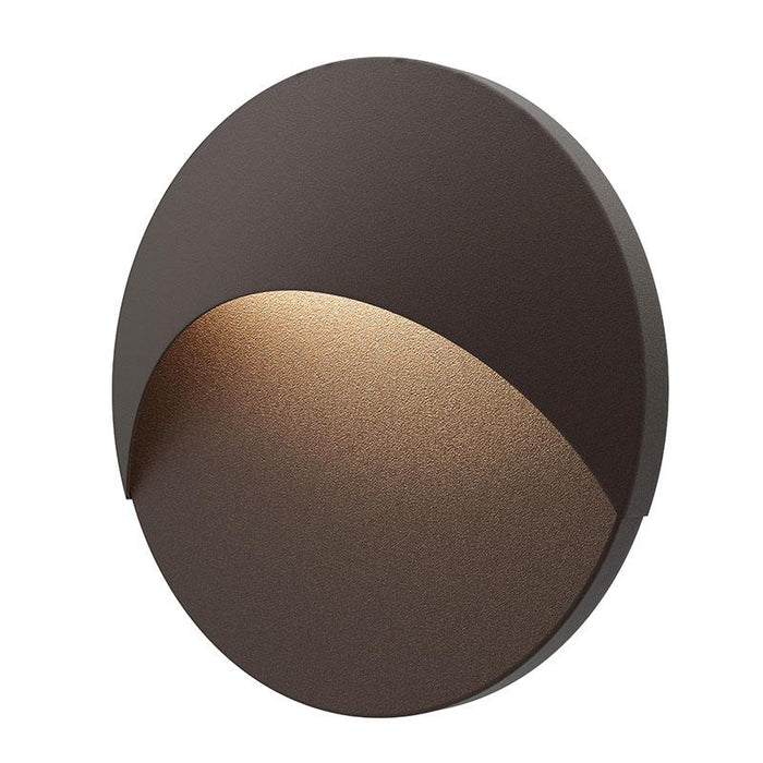 Ovos Round LED Outdoor Wall Sconce - Textured Bronze Finish