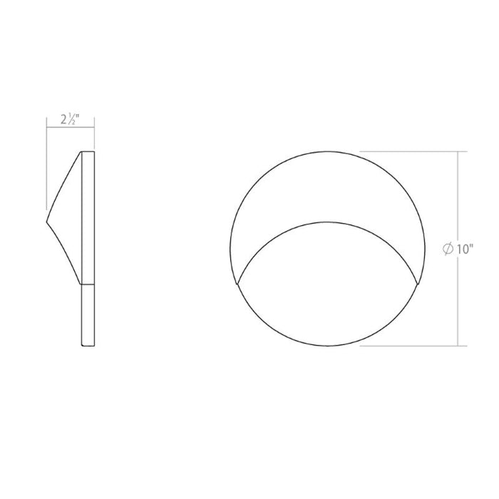 Ovos Round LED Outdoor Wall Sconce - Diagram