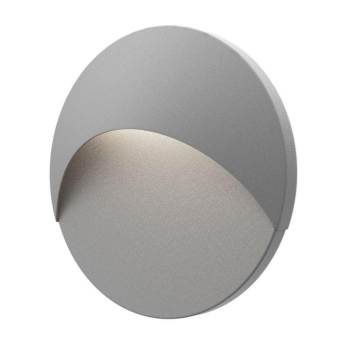 Ovos Round LED Outdoor Wall Sconce - Textured Gray Finish