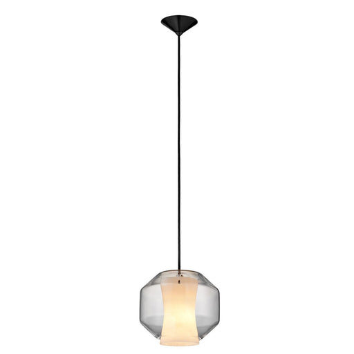Pendant - Clear Glass/White