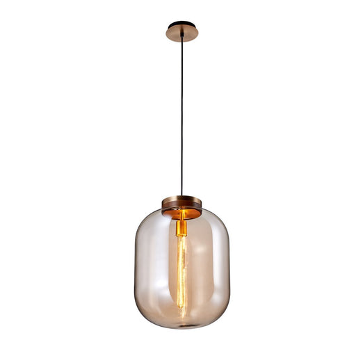 Large Pendant - Brown Finish
