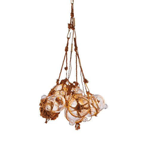 Glass Cluster Pendant -  Brown