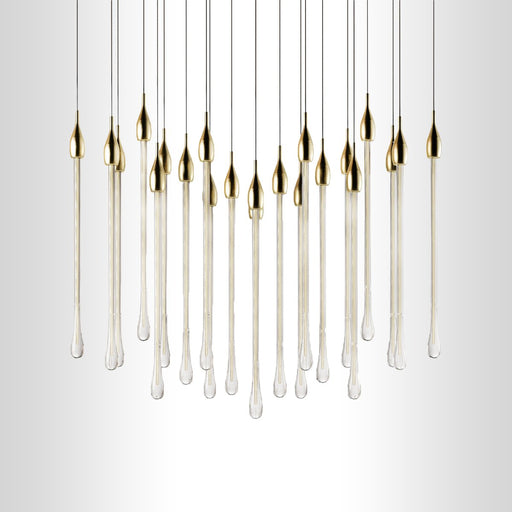 Linear Chandelier - Gold Finish