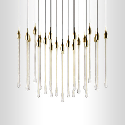 Linear Glass Chandelier