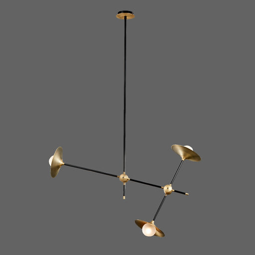 3-Light Pendant - Brass Finish