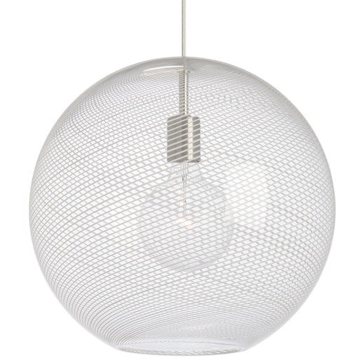 Palestra Large Pendant - Satin Nickel Finish