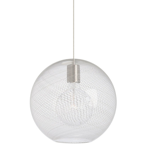 Palestra Medium Pendant - Satin Nickel Finish