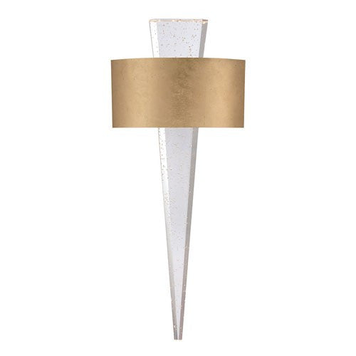 Palladian Crystal LED Wall Sconce - Gold Leaf Finish
