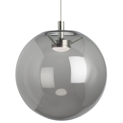 Palona Pendant - Smoke Glass Satin Nickel Finish