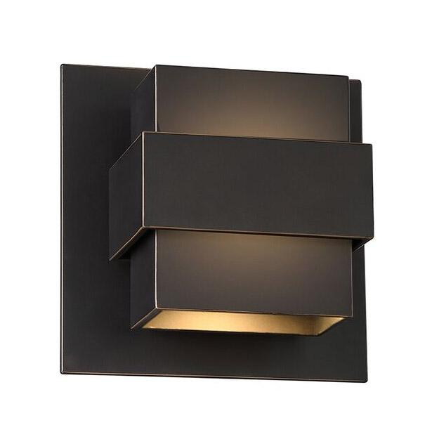 "Pandora 7"" LED Outdoor Wall Light - Oil Rubbed Bronze Finish"