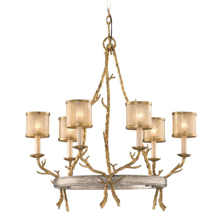 Parc Royale Chandelier - Gold And Silver Leaf Finish
