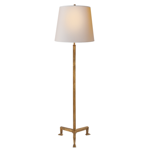 Parish Floor Lamp - Gilded Iron